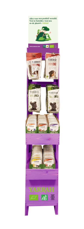Yarrah Organic Petfood B.V. Holzdisplay klein, Snackdisplay 1Stück