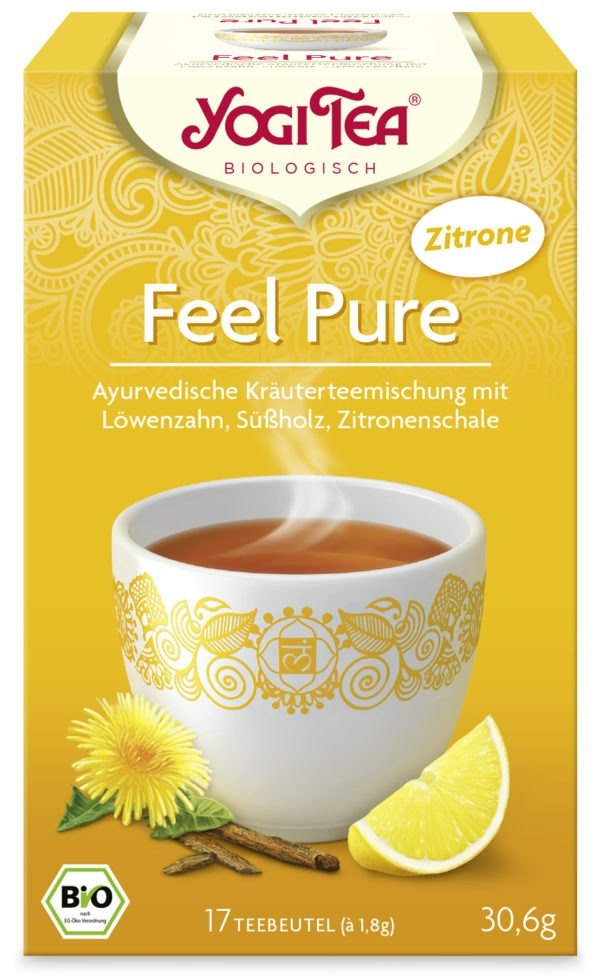 YOGI TEA ® Feel Pure Zitrone Bio 6x30,6g