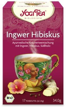 YOGI TEA ® Ingwer Hibiskus Bio 6x34g