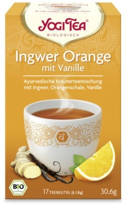 YOGI TEA ® Ingwer Orange mit Vanille Bio 6 x 30,6g