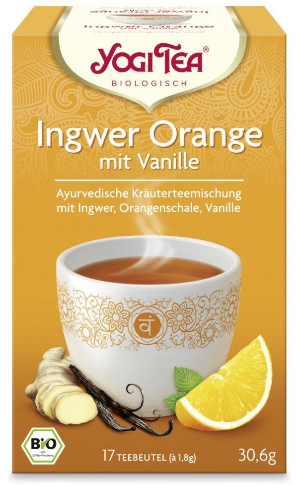 YOGI TEA ® Ingwer Orange mit Vanille Bio 6x30,6g