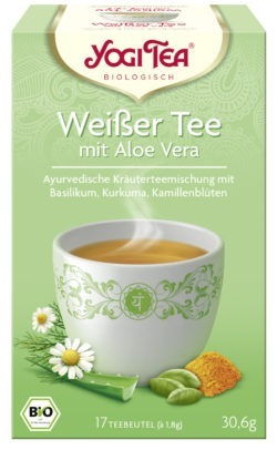YOGI TEA ® Weißer Tee mit Aloe Vera Bio 6x30,6g