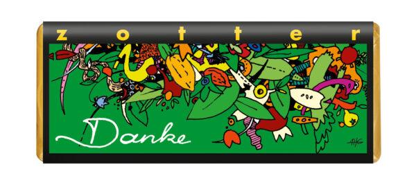 Zotter Schokolade Danke - Marzipan und Mandeln 10x70g