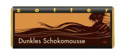 Zotter Schokolade Dunkles Schokomousse, Nobelbitterschokolade° gefüllt mit Schokolademousse°(56%) 10x70g