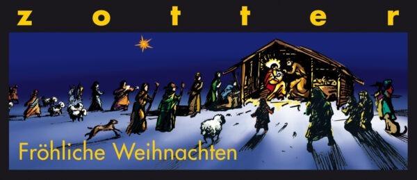 Zotter Schokolade Fröhliche Weihnachten - GewürzMarzipan (+) 10x70g