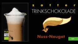 Zotter Schokolade Trinkschokolade – Nuss Nougat - vegan, Trinkschokolade-Riegel° mit Haselnüssen° 6x110g