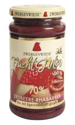 Zwergenwiese FruchtGarten Erdbeere-Rhabarber 6x225g