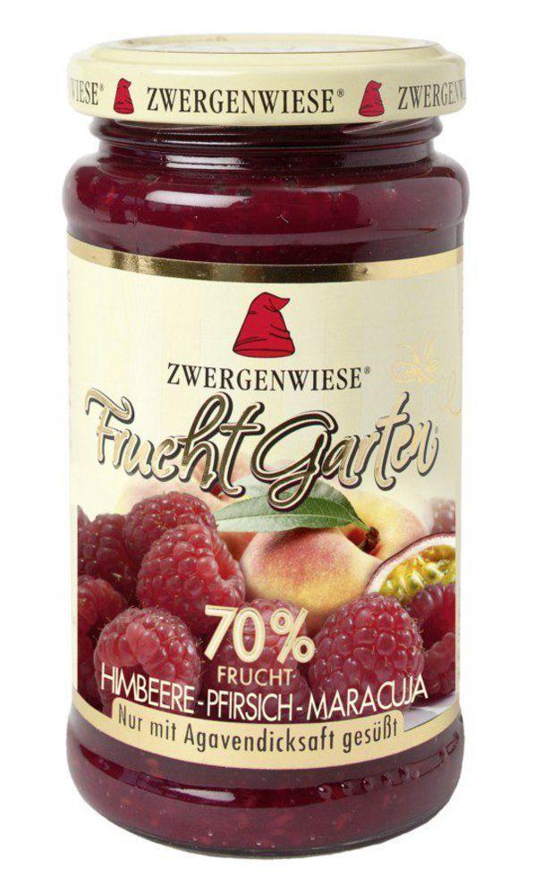 Zwergenwiese FruchtGarten Himbeere-Pfirsich-Maracuja 225g