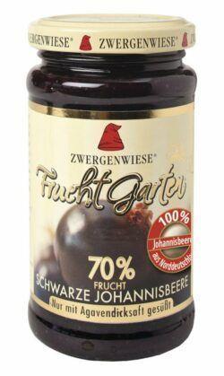 Zwergenwiese FruchtGarten Schwarze Johannisbeere 6x225g