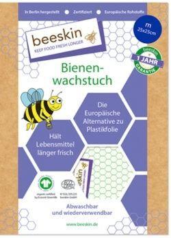 beeskin Bienenwachstuch Größe m 25x25cm 1Stück