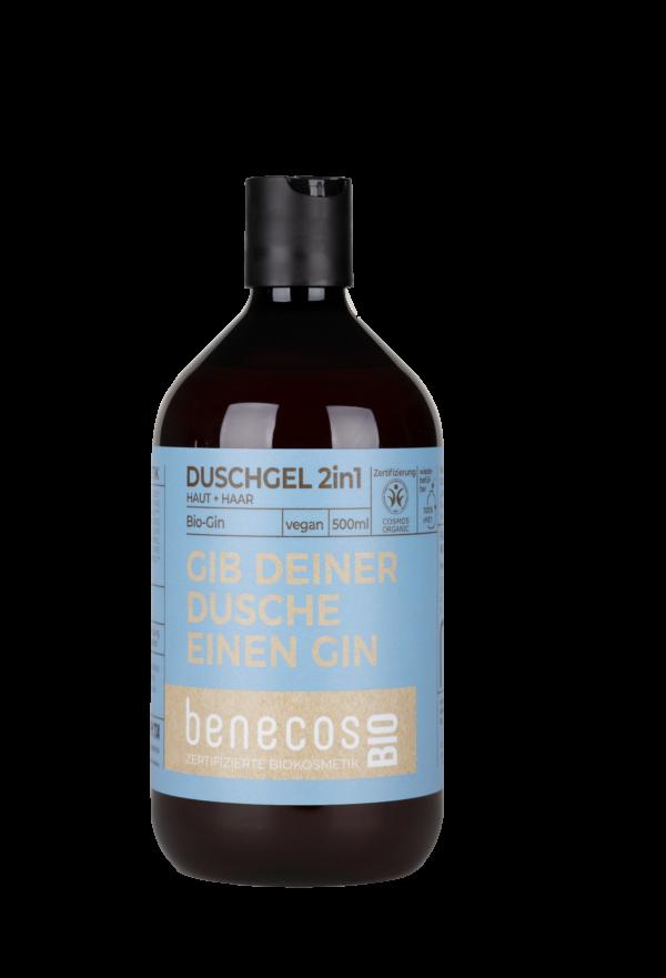 benecos BIO Duschgel 2in1 BIO-Gin Haut & Haar - GIB DEINER DUSCHE EINEN GIN 500ml