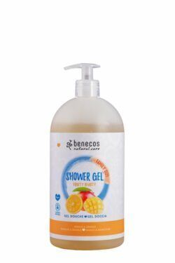 benecos Natural Shower Gel FAMILY SIZE Fruity Beauty Mango & Orange 950ml