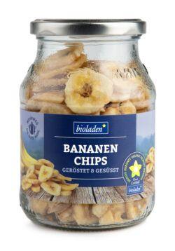 bioladen Bananenchips geröstet & gesüßt im Pfandglas 6x180g