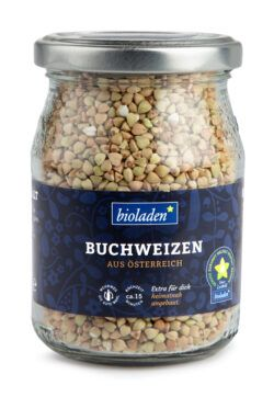 bioladen Buchweizen, im Pfandglas 6x210g