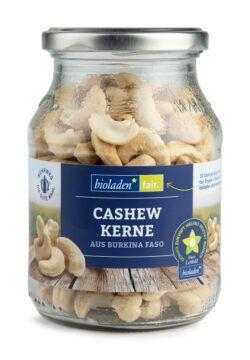 bioladen Cashewkerne, ganz im Pfandglas 6x260g