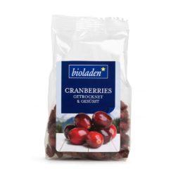 bioladen Cranberries getrocknet & gesüßt 10x100g