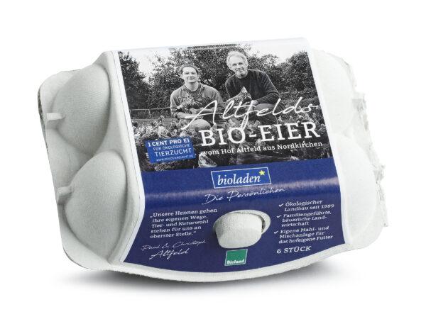 bioladen Eier, Größe L, abgepackt 6Stück