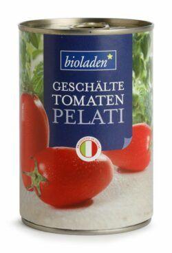 bioladen Geschälte Tomaten Pelati 12x400g