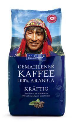 bioladen Kaffee 100 % Arabica kräftig, gemahlen 12x500g