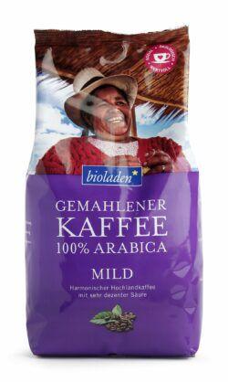 bioladen Kaffee 100 % Arabica mild, gemahlen 12x500g