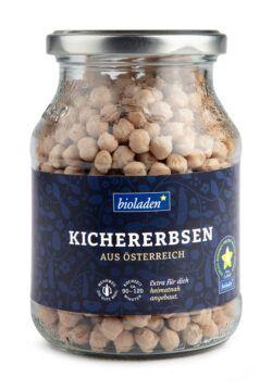 bioladen Kichererbsen, im Pfandglas 6x405g