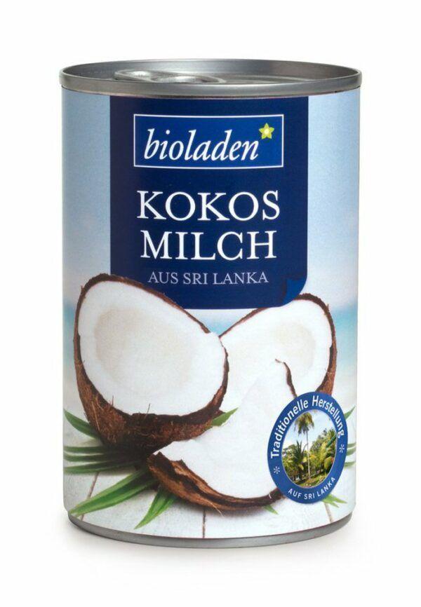 bioladen Kokosmilch mit 60 % Kokosnussanteil 6x400ml