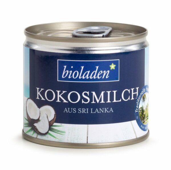 bioladen Kokosmilch mit 60 % Kokosnussanteil 200ml