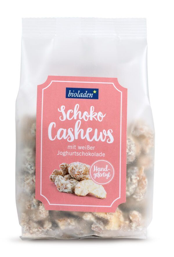 bioladen Schoko Cashews mit weißer Joghurtschokolade 6x150g