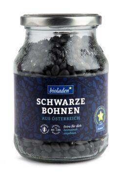 bioladen Schwarze Bohnen, im Pfandglas 6x415g