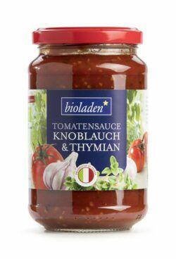 bioladen Tomatensauce Koblauch & Thymian 6x340g