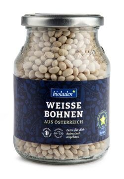 bioladen Weiße Bohnen, im Pfandglas 6x385g