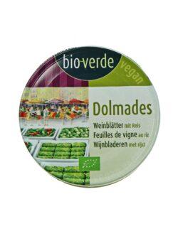 bio-verde Dolmades gefüllte Weinblätter mit Reis 6x190g