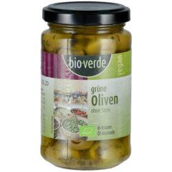 bio-verde Grüne Oliven ohne Stein mit frischen Kräutern in Öl-Marinade 6x200g
