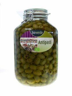 bio-verde Grüne Oliven ohne Stein mit frischen Kräutern in Öl 4,55kg
