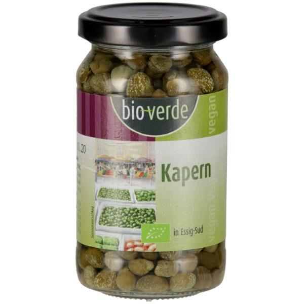 bio-verde Kapern in Essig-Sud 180 g Abtropfgewicht 100g 6x180g