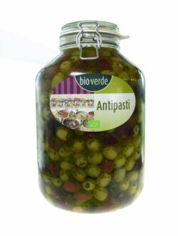 bio-verde Oliven-Mix ohne Stein mit frischen Kräutern in Öl 4,55kg