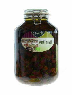 bio-verde Schwarze Kalamata-Oliven mit Stein mit frischen Kräutern in Öl 4,75kg