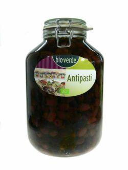 bio-verde Schwarze Kalamata-Oliven ohne Stein mit frischen Kräutern in Öl 4,55kg