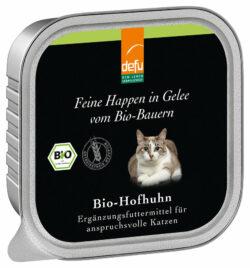 defu Katze Feine Happen in Gelee Bio-Hofhuhn 16x100g