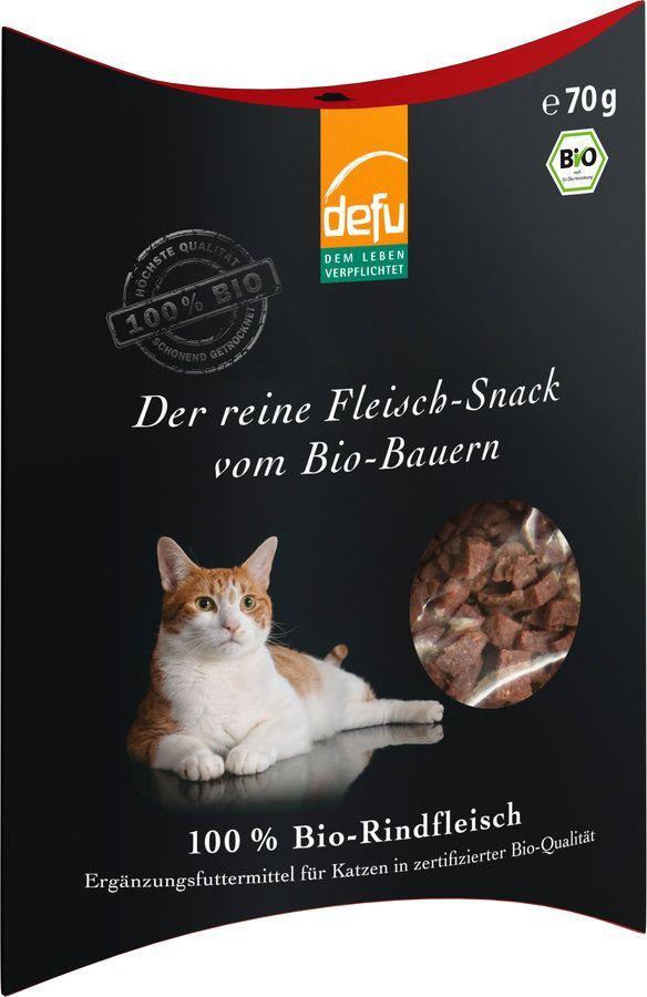 defu Katze reiner Fleisch-Snack Rind 8x70g