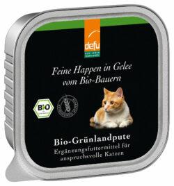 defu Katze Feine Happen in Gelee Bio-Grünlandpute 16x100g