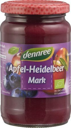 dennree Apfel-Heidelbeer-Mark 6 x 360g