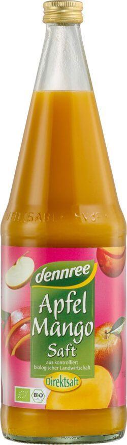 dennree Apfel-Mango-Saft, Direktsaft 1l