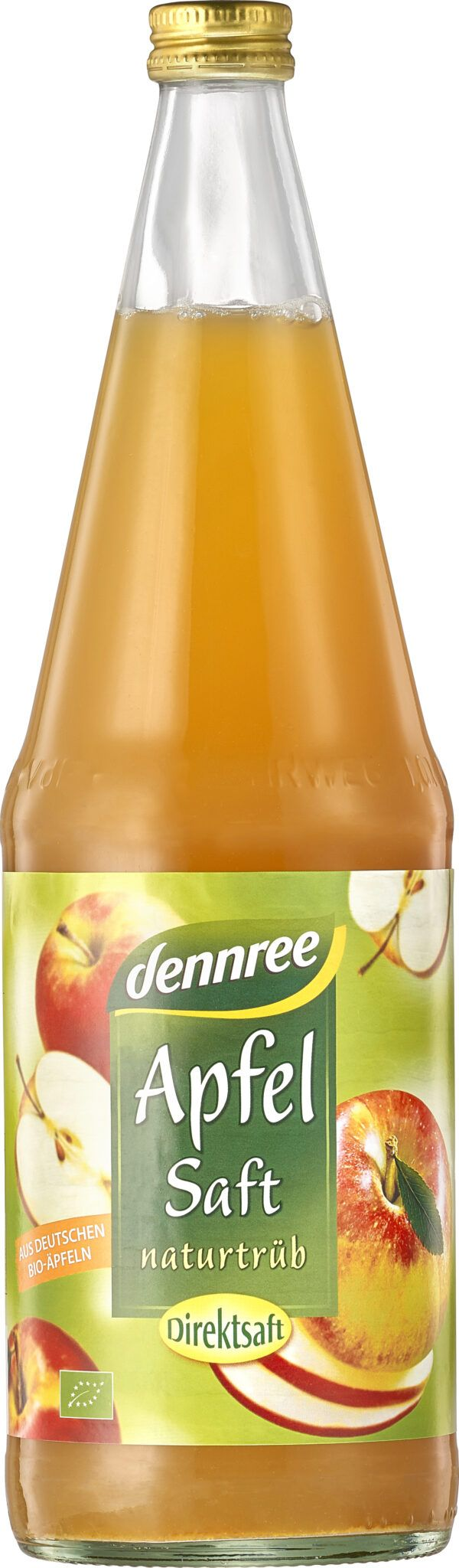 dennree Apfelsaft naturtrüb, Direktsaft 6x1l