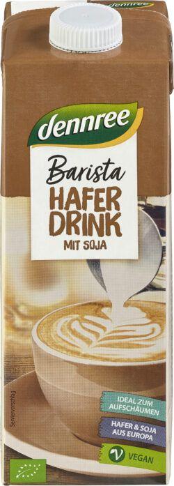 dennree Barista Haferdrink mit Soja 12x1l
