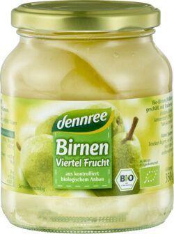dennree Birnen, Viertel Frucht 6x350g