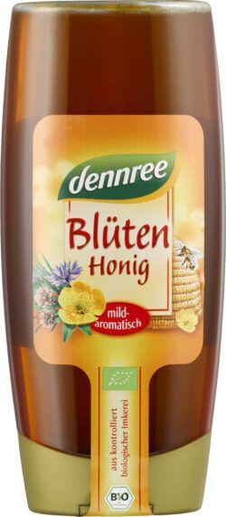 dennree Blütenhonig, mild-aromatisch, in der PET-Flasche 6x700g