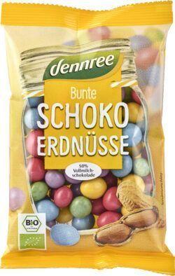 dennree Bunte Schoko-Erdnüsse mit 50% Vollmilchschokolade 10x100g