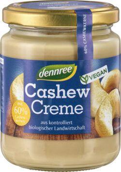 dennree Cashew-Creme mit 60% Cashewkernen, vegan 6x250g