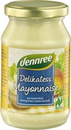 dennree Delikatess-Mayonnaise, mit Ei 6x250ml